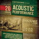 Acoustic Performance Flyer / Poster