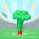 Broccoli Cabbage Soccer on the Sport Field