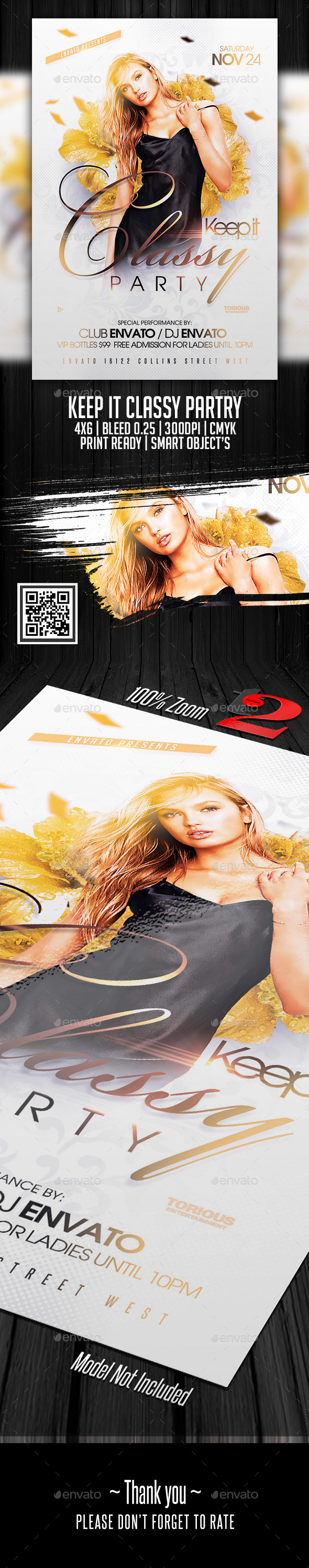 Keep It Classy Party Flyer Template - Clubs & Parties Events