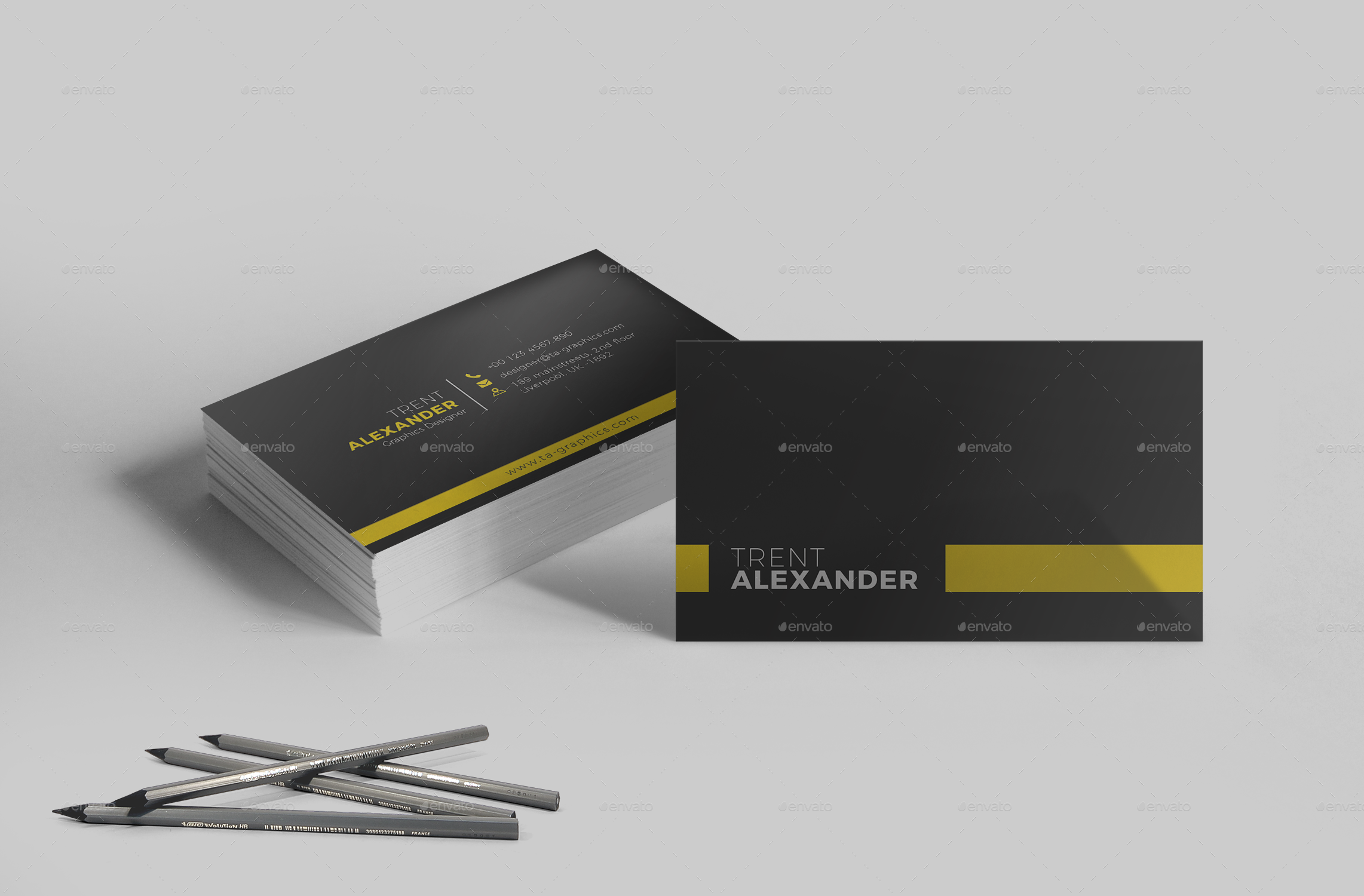 CV/Resume Business Card Template by one_graphics | GraphicRiver