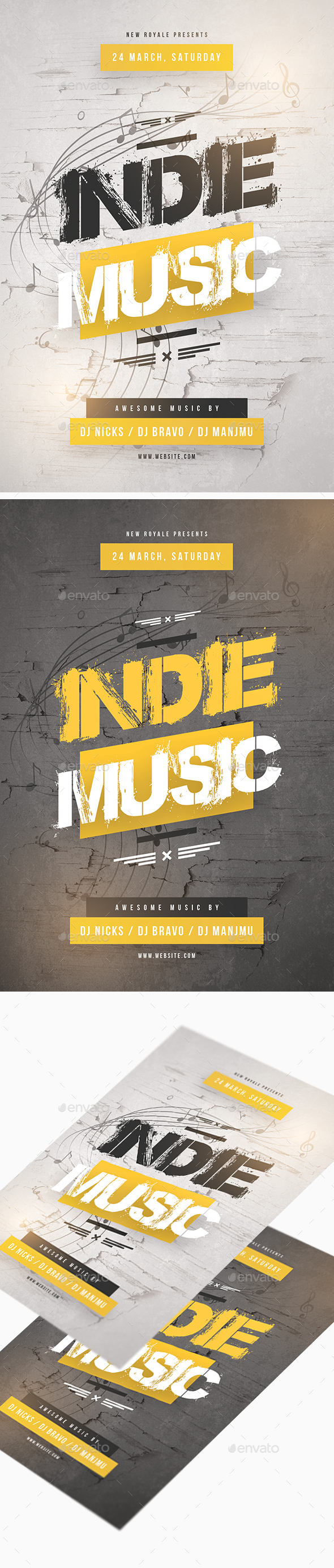 Indie Music Flyer - Clubs & Parties Events