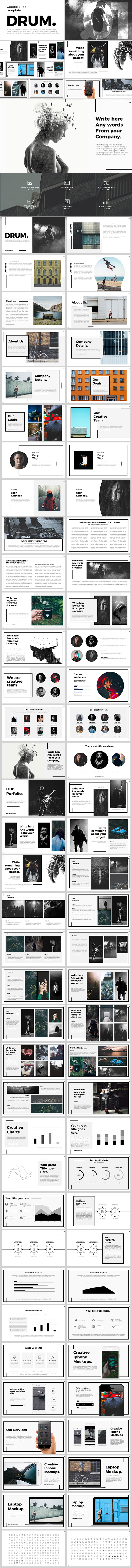 Drum Google Slides - Google Slides Presentation Templates