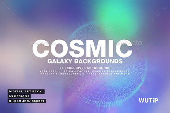 Abstract Cosmic Galaxy Backgrounds - Abstract Backgrounds