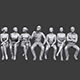 Lowpoly Sitting People Pack Vol. 5