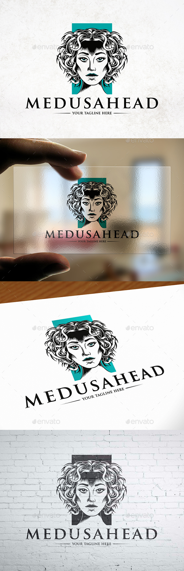 Medusa Head Logo Template - Humans Logo Templates