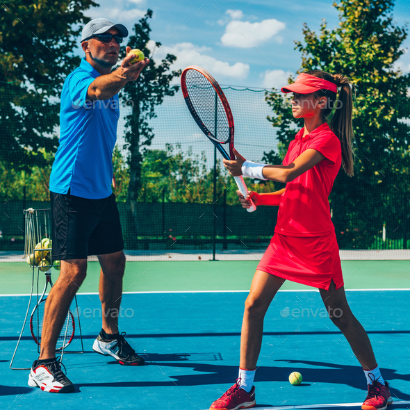 Tennis training - Stock Photo - Images