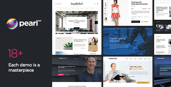 Pearl WP - Corporate Business WordPress Theme - Business Corporate