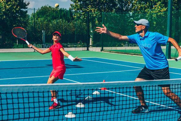 Tennis training - Stock Photo - Images