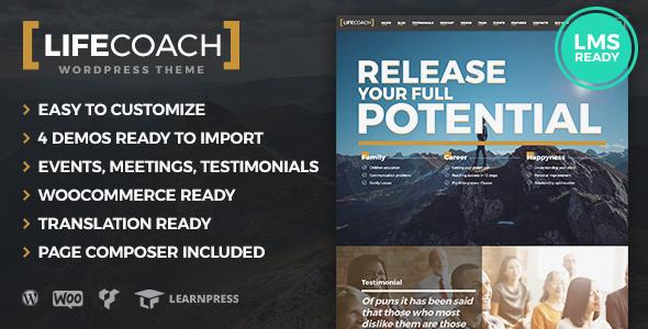 Life Coach WordPress Theme - Education WordPress