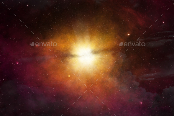 star light glowing in the outer space - Stock Photo - Images