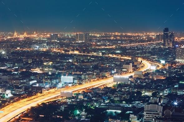 Bangkok at the night - Stock Photo - Images