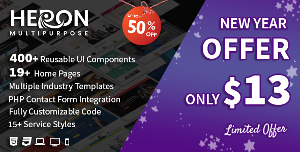 Image of Heron - Multipurpose HTML Website Templates