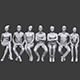 Lowpoly Sitting People Pack Vol. 7