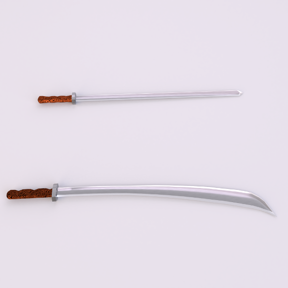Two Sword low-poly(1) - 3DOcean Item for Sale