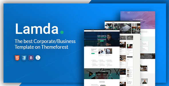 LAMDA – A Powerful & Flexible Business Template by W3Engineers ...