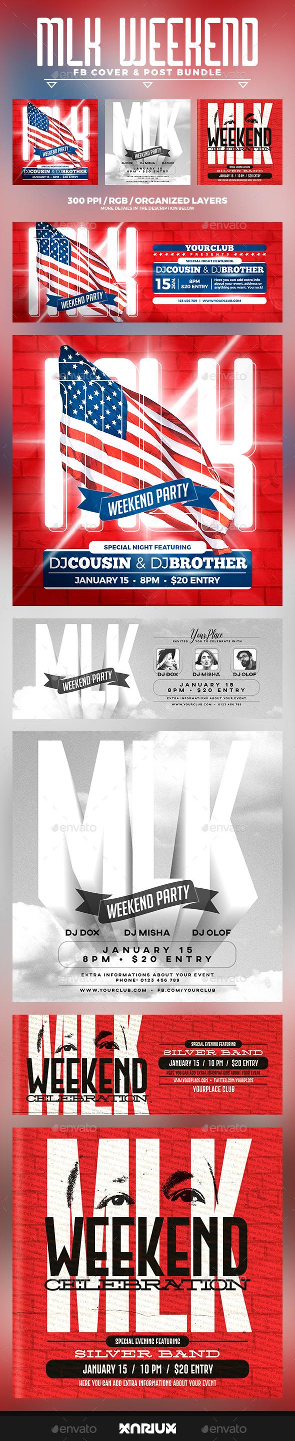MLK Facebook Cover Bundle - Social Media Web Elements
