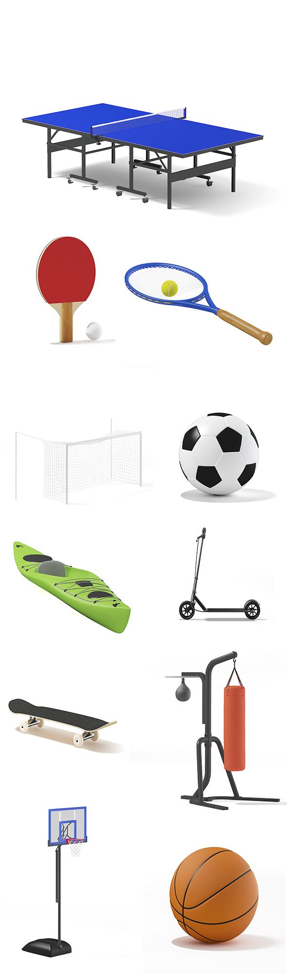 Sport Equipment - 3DOcean Item for Sale