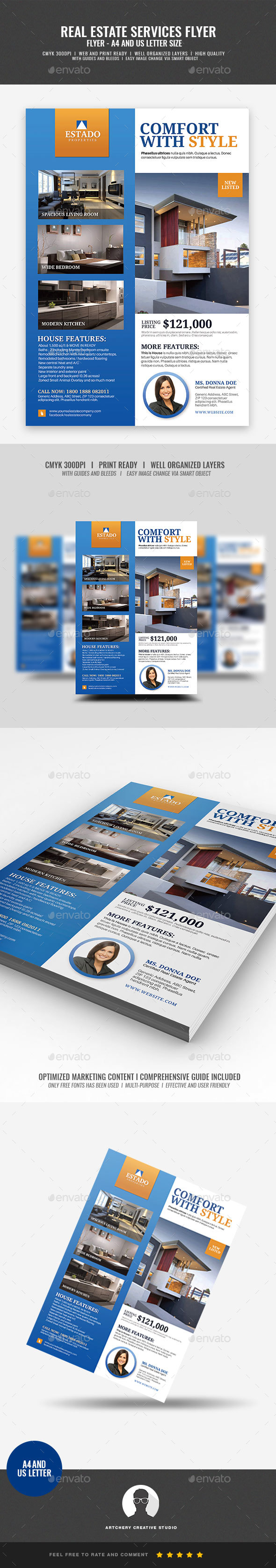 Real Estate Modern Promotional Flyer - Corporate Flyers