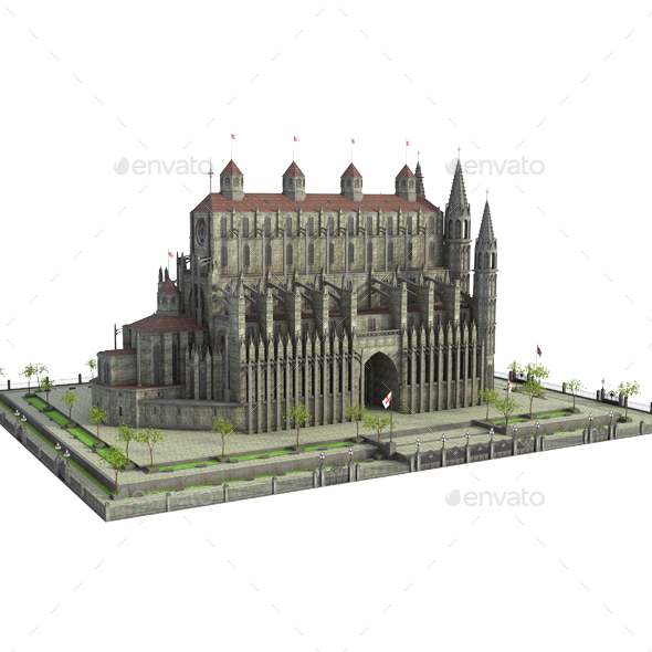 Fantasy Castle - Architecture 3D Renders