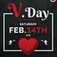 Valentines Day Flyer Template V18 - GraphicRiver Item for Sale