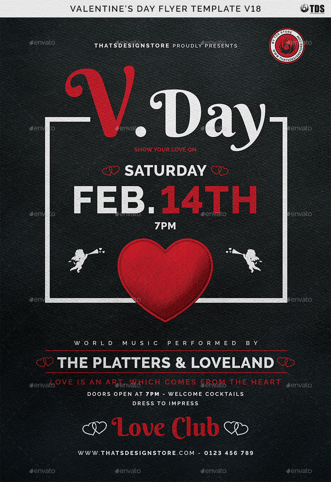 valentines day flyer template v18 by lou606 graphicriver