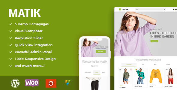Image of Matik - Minimalist WooCommerce WordPress Theme