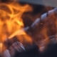Orange Fire Burns - VideoHive Item for Sale