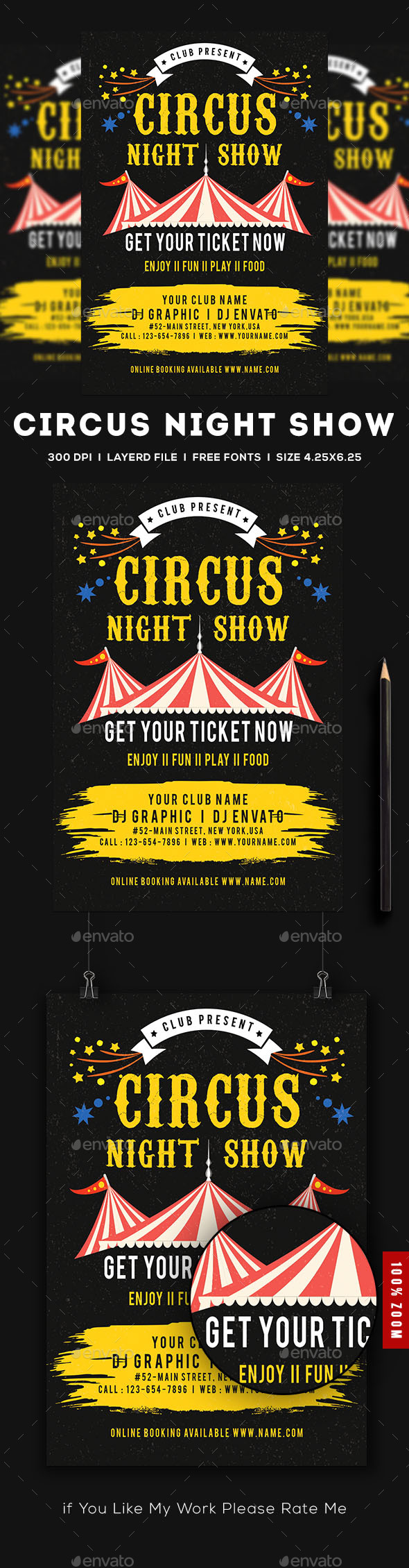 Circus Flyer - Events Flyers
