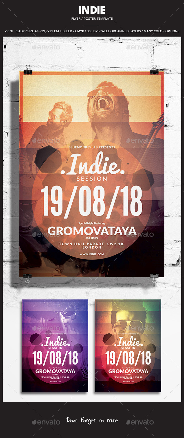 Indie Flyer / Poster 24 - Events Flyers