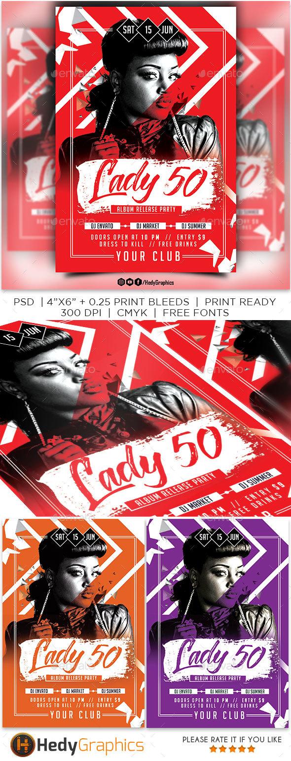 Guest Artist Flyer - Clubs & Parties Events