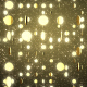 3D Golden Particles Background