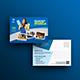 Clean Service Postcard Template