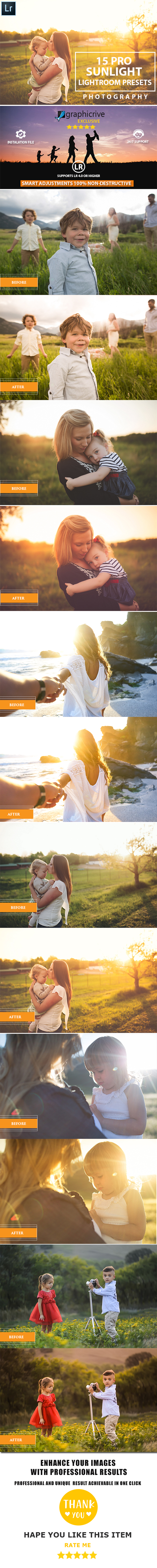 15 Pro Sunlight Lightroom Presets