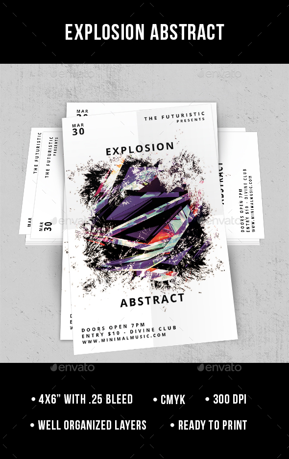 Explosion Abstract - Flyer - Clubs & Parties Events