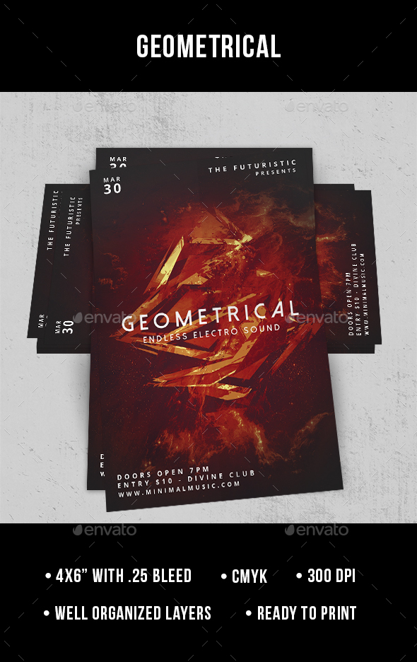 Geometrical - Flyer - Clubs & Parties Events