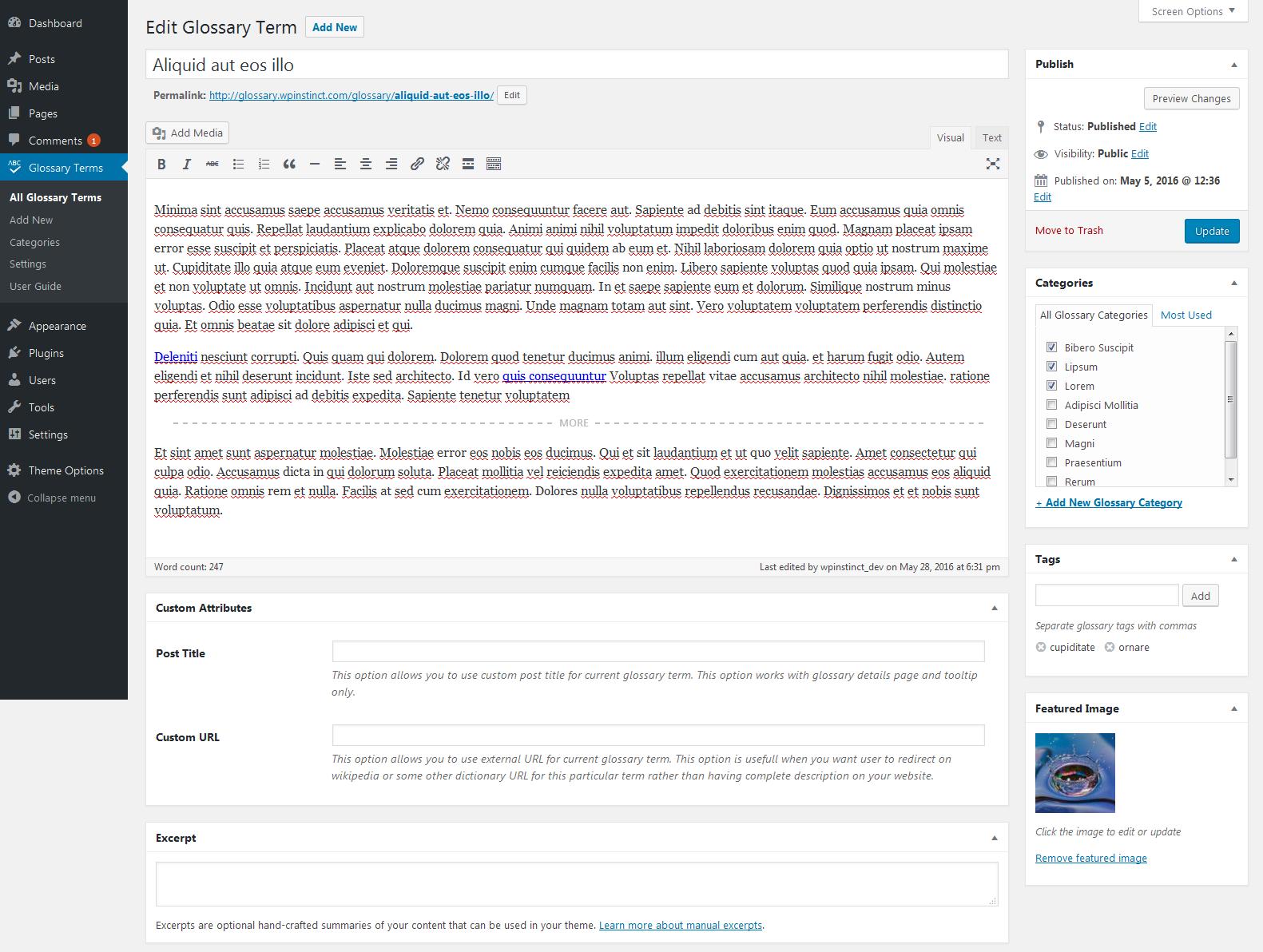 wp glossary encyclopedia lexicon knowledge base wiki dictionary