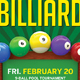 Billiard Flyer - GraphicRiver Item for Sale