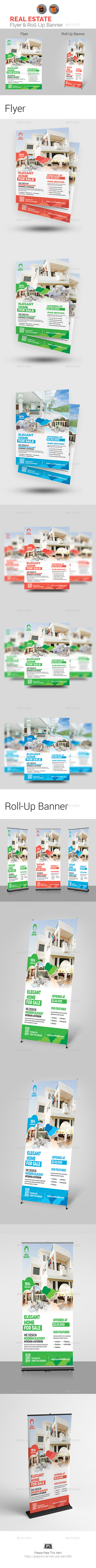 Real Estate Flyer & Roll-Up Bundle - Print Templates