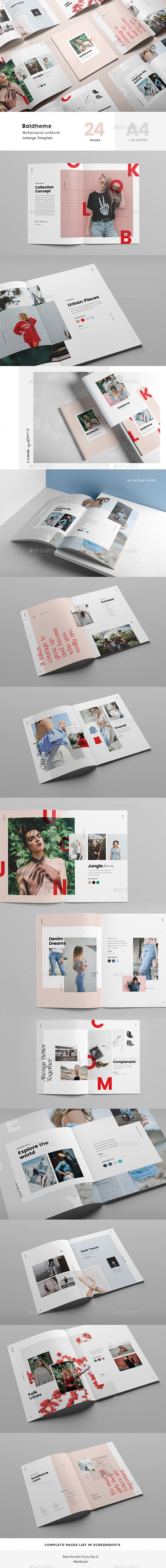 Boldheme / Lookbook & Catalog A4 + Letter - Magazines Print Templates