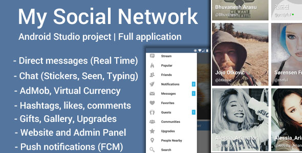 My Social Network (App and Website) - CodeCanyon Item for Sale