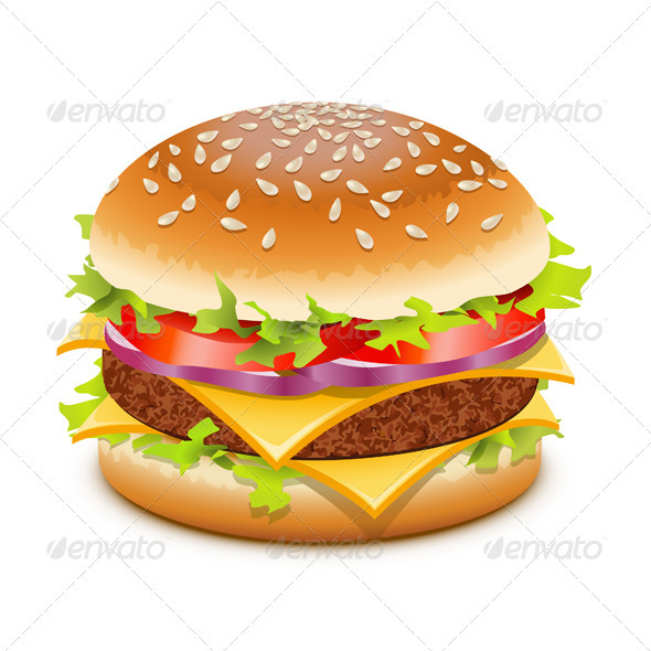 Cheeseburger - Food Objects