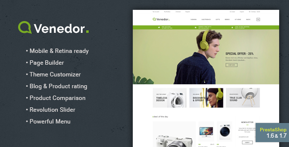 Venedor - Responsive Prestashop 1.7 Theme - Shopping PrestaShop