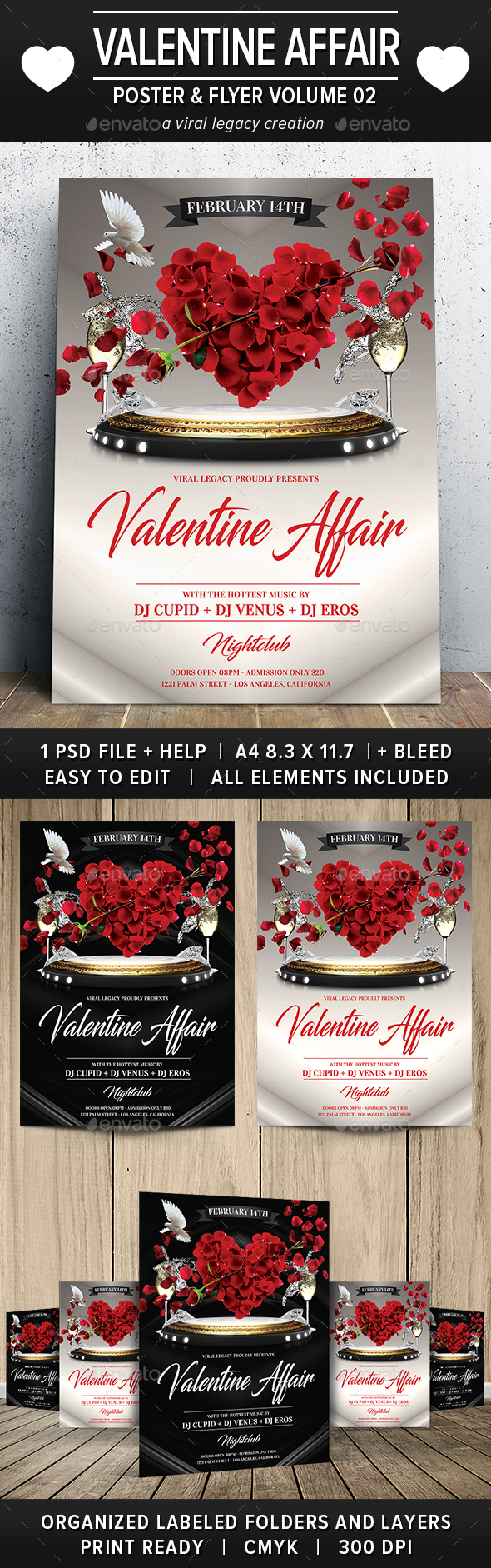 Valentine Affair Poster / Flyer V02 - Flyers Print Templates