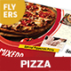 Pizza Restaurant Menu Flyers 2 – 4 Options