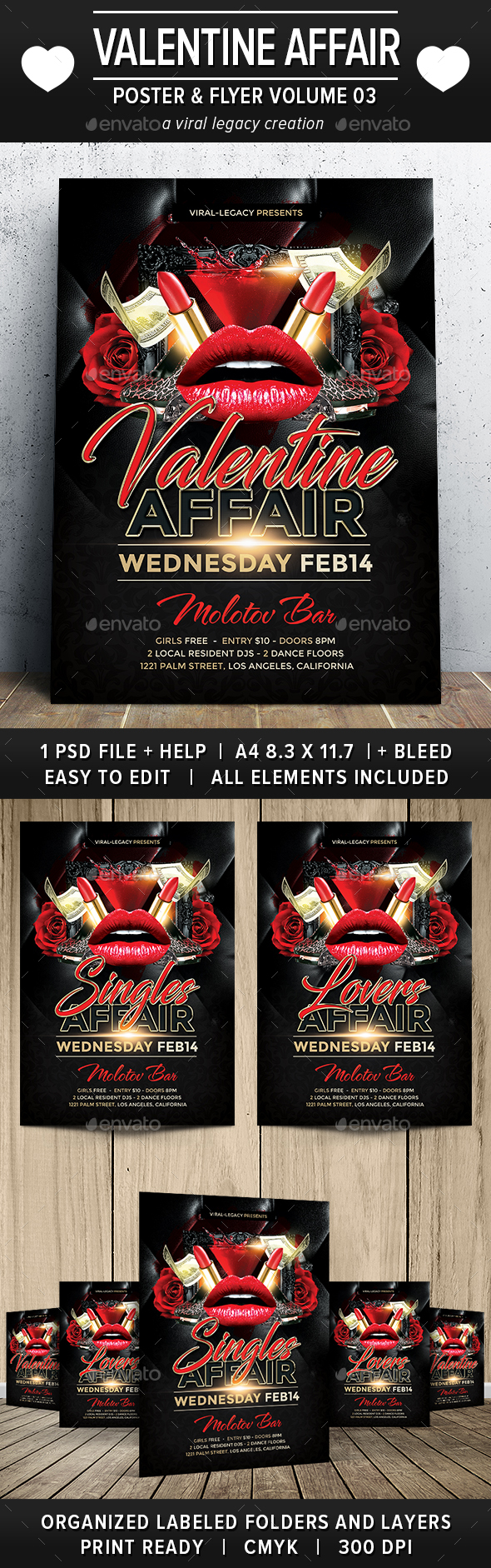 Valentine Affair Poster / Flyer V03 - Flyers Print Templates
