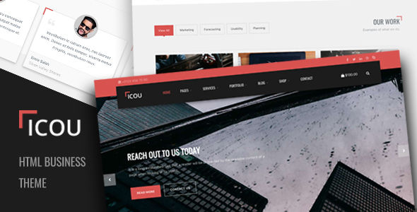 bigcommerce template variables - icou responsive business html template by p pixels