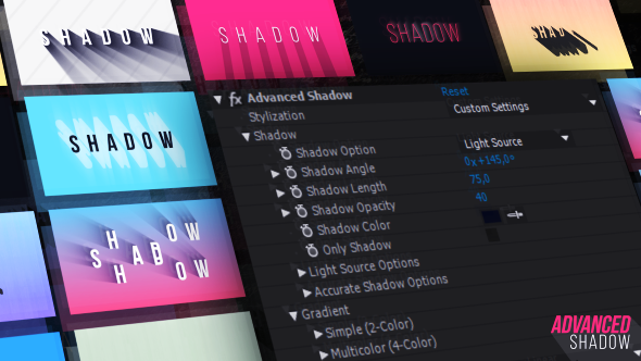 Videohive Advanced Shadow 21222364