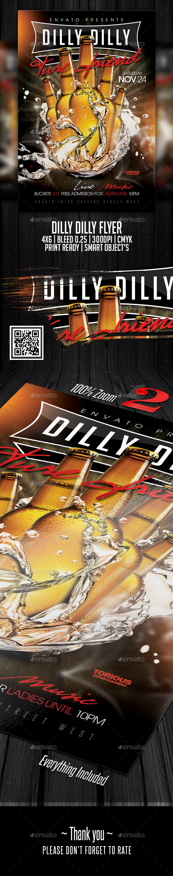 Dilly Dilly Party Flyer Template - Clubs & Parties Events