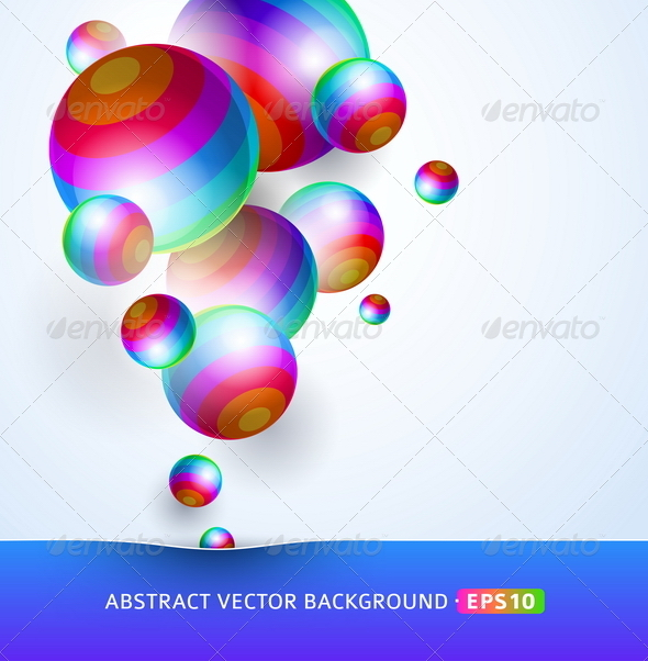 Abstract Background With Colorful Spheres - Abstract Conceptual