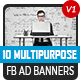 20 Facebook Ad Banners V1 - AR